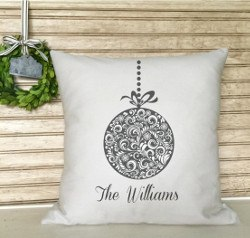 Personalized Christmas Pillow, Holiday Ornament