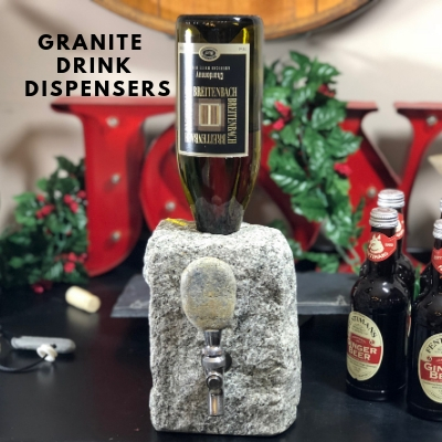 Natural Stone Rock Drink Dispenser