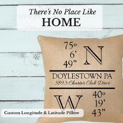 Personalized Longitude Latitude Pillow