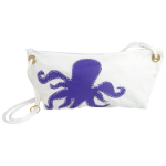 Purple Octopus Recycled Sail Handbag