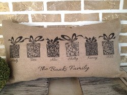 Personalized Christmas Pillow, Holiday Gifts