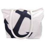 Navy Anchor Recycled Sail Bag